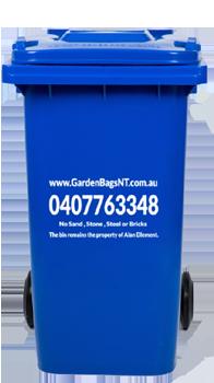 360 litres Wheelie Bins of Rubbish